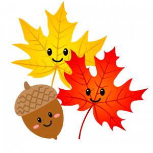 Fall Leaves and Acorn Graphic